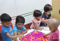 Playgroup - Art And Craft -  Square Shape - Paper Crumpling Activity